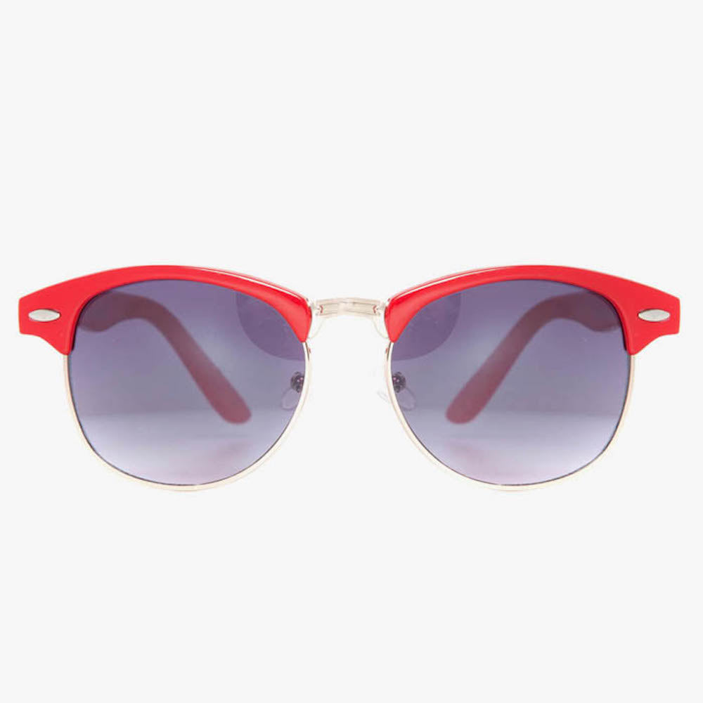 Classic Clubmaster Vintage Sunglasses In Red - Accessory O