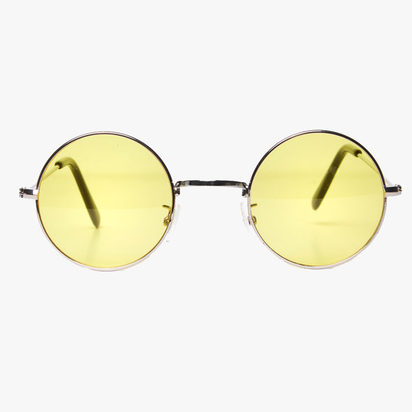 Round Sunglasses with Yellow Lens - Accessory O