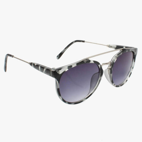 Black Tortoiseshell Matte Browmaster Sunglasses - Accessory O