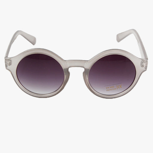 Grey Transparent Round Panto Frame Sunglasses - Accessory O