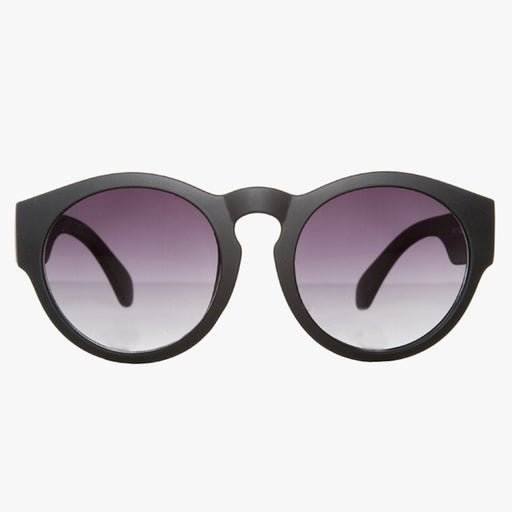 Classic Black Rounded Wayfarer Sunglasses - Accessory O