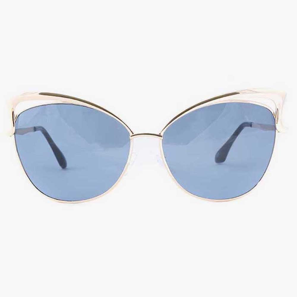 Gold Sunglasses With Brow Detail