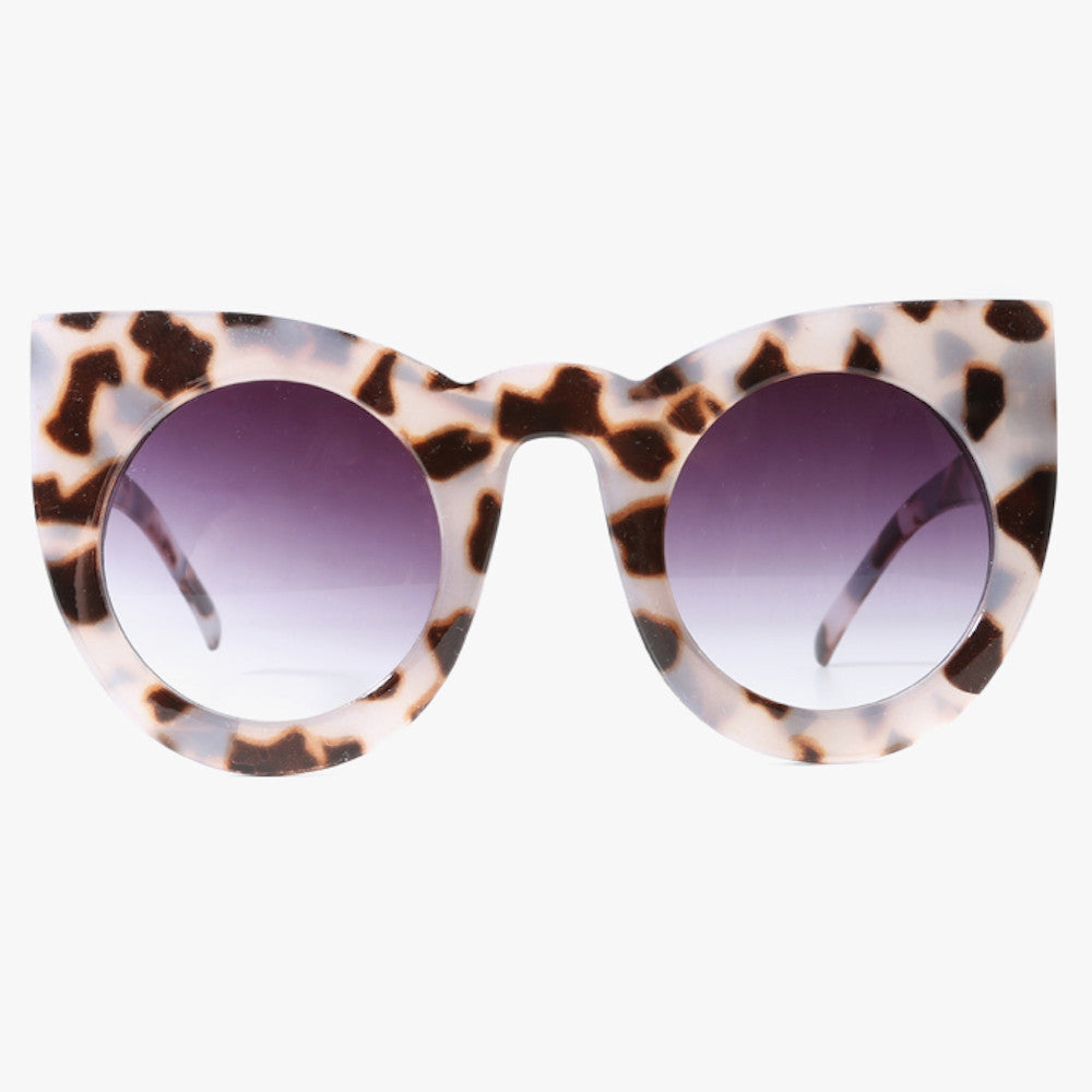 Animal Print Oversized Cat Eye Sunglasses - Accessory O