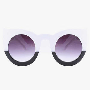 Monochrome Oversized Cat Eye Sunglasses - Accessory O