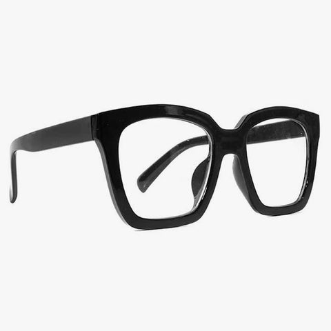 Clear Lens Black Glasses With Thick Frame - Accessory O