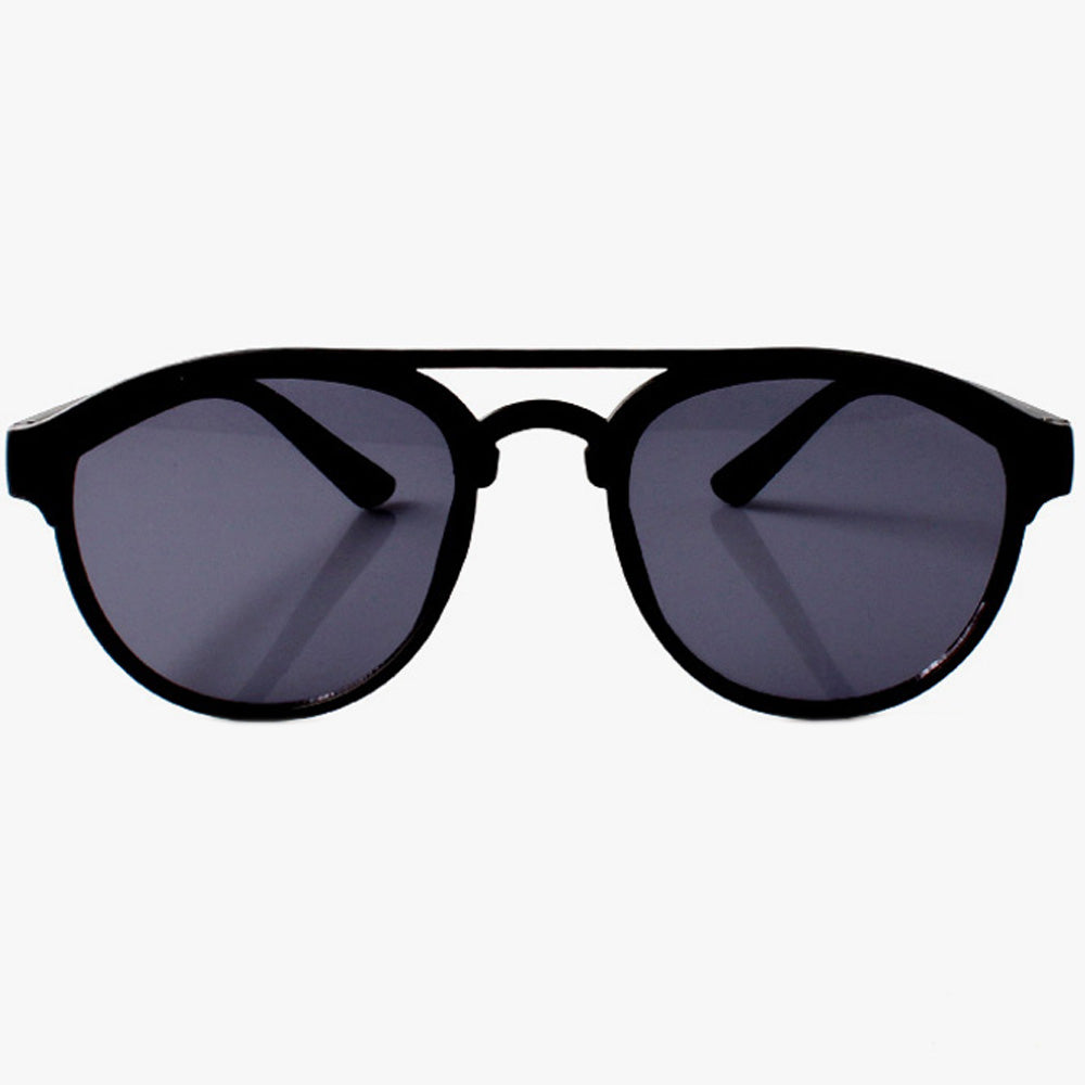 Classic Black Sunglasses With Brow Bar Detail