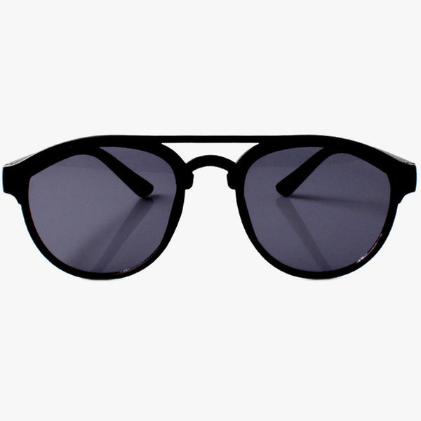 Classic Black Sunglasses With Brow Bar Detail - Accessory O