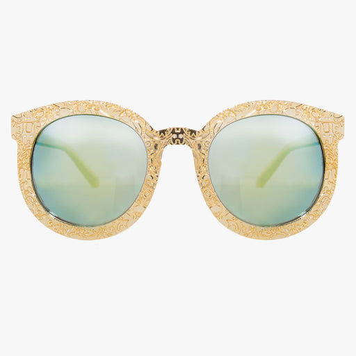 Gold Oversized Glasses With Revo Lens - Accessory O