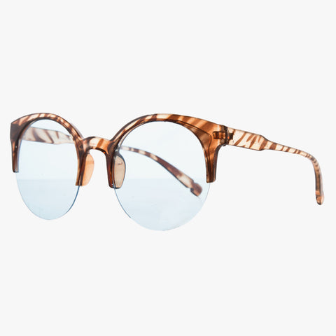 Marble Animal Print Sunglasses With Blue Lens - Accessory O