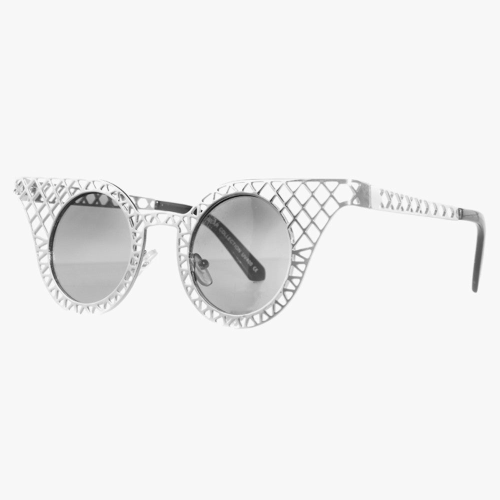 Silver Cage Detail Sunglasses - Accessory O