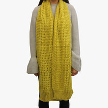 Load image into Gallery viewer, SVNX Chartreuse Soft Chunky Knit XL Scarf - Accessory O