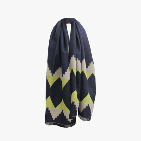SVNX Blue Tribal Print XL Blanket Scarf