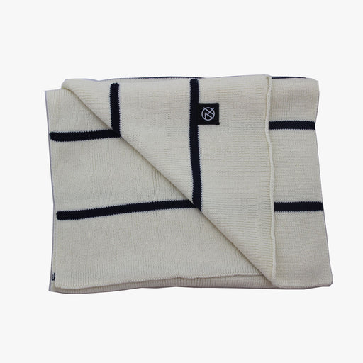 SVNX Cream & Navy Stripe Scarf