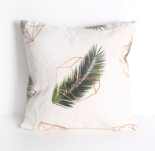 Load image into Gallery viewer, Geometric leaf print cushion
