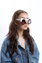Load image into Gallery viewer, Monochrome Oversized Cat Eye Sunglasses - Accessory O