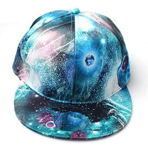 Load image into Gallery viewer, galaxy print snapback fashion trend amazon mens ladies cap hat summer festival