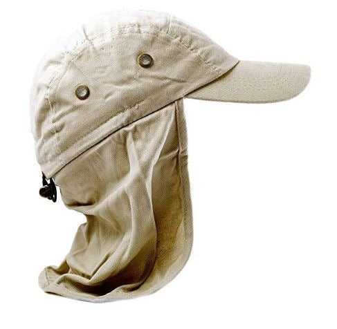 flap neck cover hat outdoor 100% UV protection legionnaires headwear beige summer holiday daily outdoor farmer cap amazon