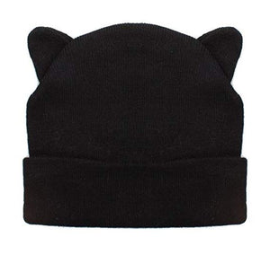 cat ears beanie hat black winter ladies womens black head warmer amazon cosy cute