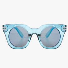 Load image into Gallery viewer, Transparent Blue Square Sunglasses - Accessory O