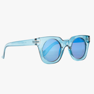Transparent Blue Square Sunglasses - Accessory O
