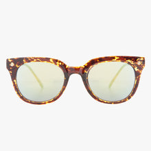 Load image into Gallery viewer, Brown Tortoise Shell Wayfarer Sunglasses With Green Revo Lens - Accessory O