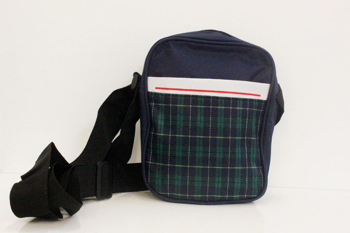 SVNX Green Tartan Flight Bag - Accessory O
