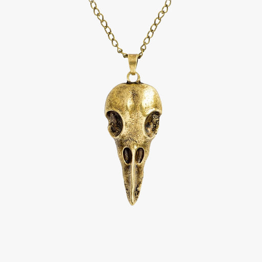 SVNX Mens Gold Nordic Skull Pendant Necklace