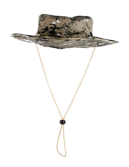 Khaki Army Print Style Safari Hat | ACCESSORYO