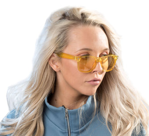 Clear Yellow Wayfarer Sunglasses - Accessory O