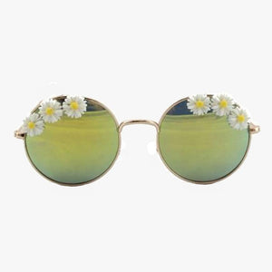 Zoey Flower Round Frame Sunglasses - Accessory O