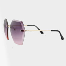 Load image into Gallery viewer, Elise Rimless Jewel Shape Double Lens Sunglasses - Accessory O