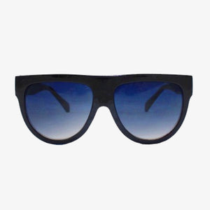 Exaggerated Visor Sunglasses with Black Frame - Accessory O