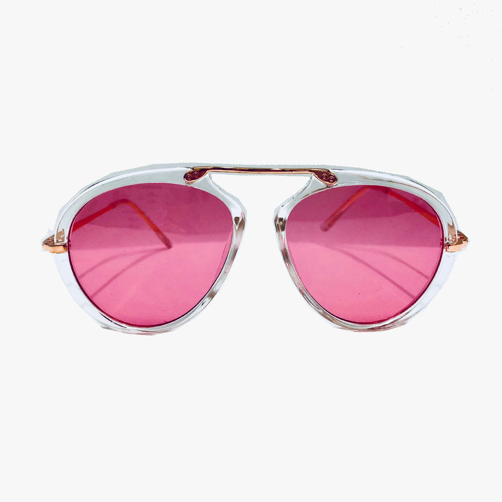 Amelia Aviator Top Bar Detailed Sunglasses - Accessory O