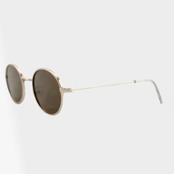 Quinn Retro Oval Shaped Sunglasses - Accessory O