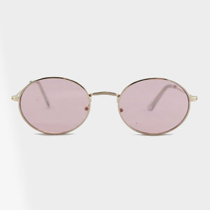 Naomi Retro Oval Shaped Sunglasses - Accessory O