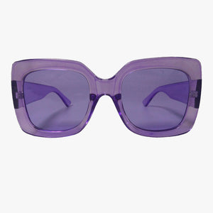 Sophia Purple Oversized Square Sunglasses - Accessory O