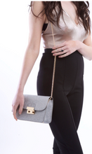 Load image into Gallery viewer, Silver Glitter Handbag