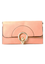 Load image into Gallery viewer, Peach Retro Clasp Clutch