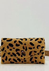Leopard Print Belt With Bag