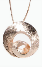 Load image into Gallery viewer, Rose Gold 3 D Swirl Effect Necklace