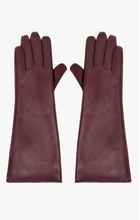 Load image into Gallery viewer, Maroon Faux Leather Long Gloves