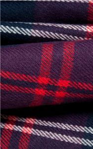 Red, Navy And Grey Thin Check Design Woven Scarf