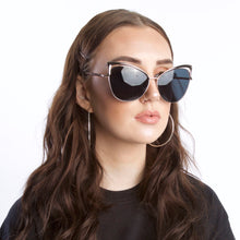 Load image into Gallery viewer, Gold Sunglasses With Brow Detail - Accessory O