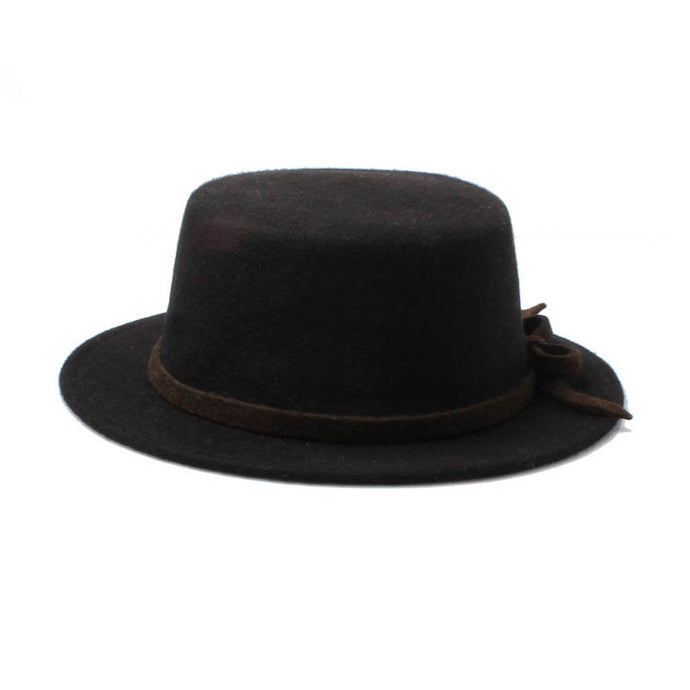 unisex black wool boater hat brown band amazon trend style fashion