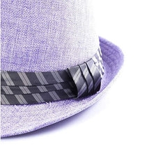 Load image into Gallery viewer, pastel purple trilby hat unisex men lady fashion trend statement