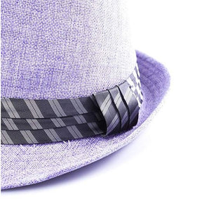 pastel purple trilby hat unisex men lady fashion trend statement