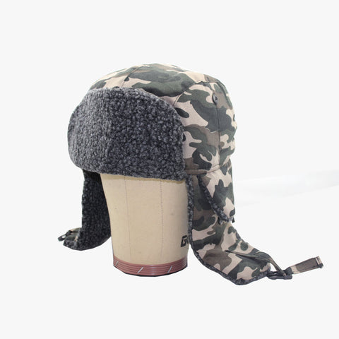 SVNX Camouflage Fleece Lined Trapper Hat