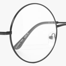 Load image into Gallery viewer, Black Round Classic Frame Clear Lens Glasses - Accessory O