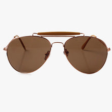 Load image into Gallery viewer, Camel Cross Bar Aviator Sunglasses - Accessory O