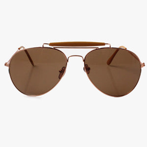 Camel Cross Bar Aviator Sunglasses - Accessory O